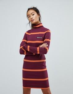 Трикотажное платье мини с отворачивающимся воротником Ellesse - Красный