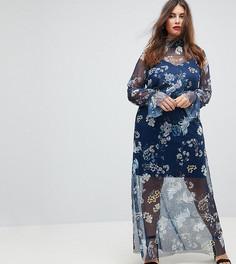 Платье макси с принтом ASOS CURVE - Мульти