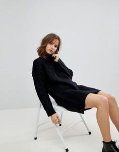 Свободное трикотажное платье ASOS - Черный
