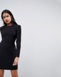Платье мини с подплечниками ASOS - Черный