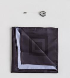 Платок для нагрудного кармана с принтом и булавка для галстука Religion - Черный