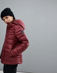 Бордовая куртка с капюшоном Napapijri - Красный