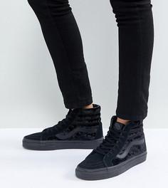 Черные бархатные кроссовки Vans Sk8-Hi Unisex - Черный