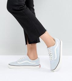 Голубые замшевые кроссовки Vans Old Skool - Синий