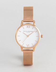 Часы цвета розового золота с сетчатым ремешком Olivia Burton OB16MDW01 - Золотой