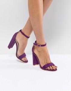 Фиолетовые босоножки на каблуке Glamorous - Фиолетовый
