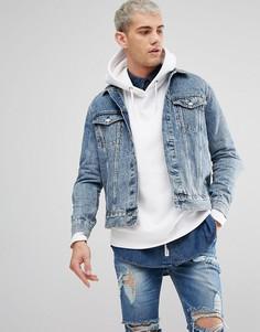 Джинсовая куртка Weekday Single - Синий
