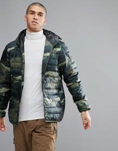 Стеганая куртка с камуфляжным принтом Quicksilver - Зеленый Quiksilver