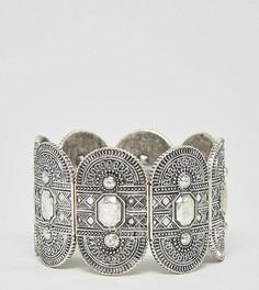 Эластичный браслет с гравировкой эксклюзивно для ASOS CURVE - Серебряный