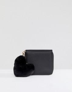 Кошелек с брелком в виде сердца Morgan - Черный