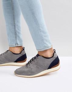Серые нубуковые кроссовки BOSS Casual Adrenal - Серый