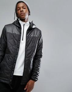 Черная стеганая дутая куртка с капюшоном Armada Gremiln - Черный