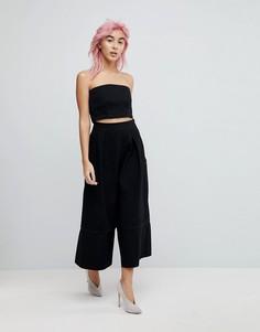 Черные джинсовые кюлоты ASOS - Черный