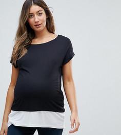 Двухслойная футболка ASOS MATERNITY NURSING - Черный