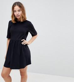 Свободное хлопковое платье мини ASOS PETITE - Черный