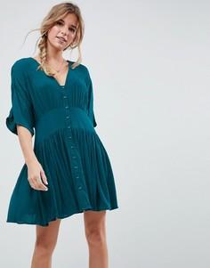 Чайное платье мини ASOS - Зеленый