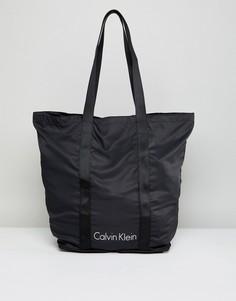 Черная складываемая сумка Calvin Klein - Черный