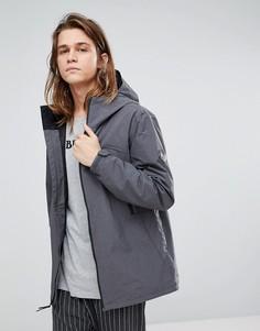 Темно-серая непромокаемая куртка с капюшоном Burton Snowboards Intervale -  Серый 28e6e9fe94d