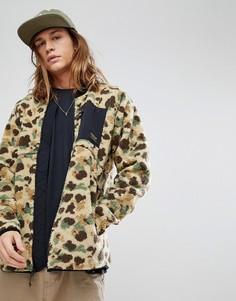 Флисовая куртка с камуфляжным принтом Burton Snowboards Grove - Мульти