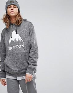 Черный меланжевый худи с логотипом Burton Snowboards Oak - Черный