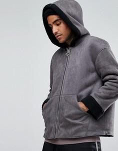 Куртка из искусственной цигейки Mennace - Серый