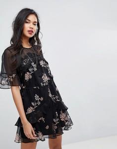 Платье мини с цветочным принтом Stevie May - Мульти