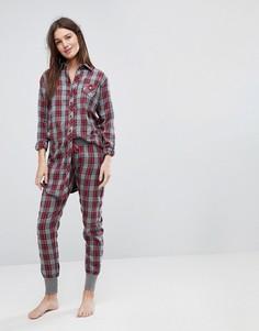 Пижамные брюки в клетку Esprit - Мульти