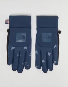 Синие перчатки со звездным принтом The North Face International E-Tip - Синий