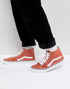 Оранжевые кроссовки Vans Sk8-Hi VA38GEQSP - Оранжевый