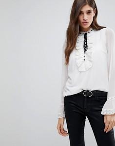 Блузка в викторианском стиле с завязкой Vero Moda - Белый
