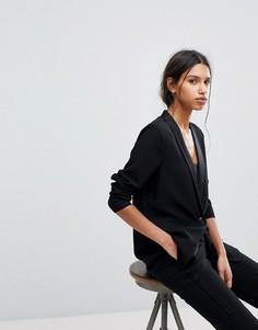 Эластичный пиджак Selected Femme - Черный