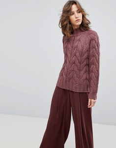 Джемпер крупной вязки Selected Femme - Оранжевый