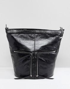 Рюкзак с молнией AllSaints - Черный