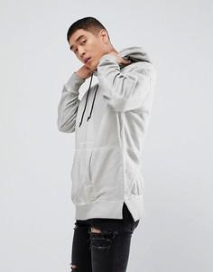 Худи светло-серого цвета с эффектом кислотной стирки New Look - Серый