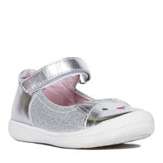 Туфли для девочки Barkito, серебристые