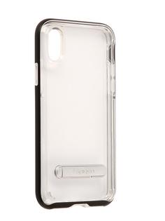 Аксессуар Чехол Spigen Crystal Hybrid для APPLE iPhone X Black 057CS22147