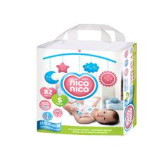 Подгузники Nico-Nico 4-8кг S Size 82шт