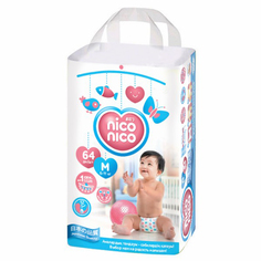 Подгузники Nico-Nico 6-11кг M Size 64шт