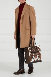 Коричневая кожаная сумка Man Ulisse Furla