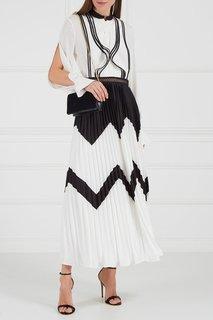 Платье-миди с плиссированным подолом Self Portrait