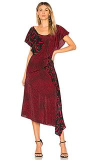 Платье ruffle draped - Diane von Furstenberg