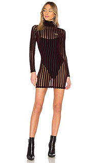 Мини платье velvet stripe - GCDS