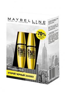 "Набор для макияжа глаз Maybelline New York Тушь для ресниц ""The Colossal Volum Express"", 100% объем, экстрачерный, 10,7 мл х2"