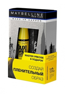 "Набор для макияжа глаз Maybelline New York Тушь для ресниц ""The Colossal Volum Express"", 10,7 мл + Лайнер ""Master Precise"",  черный, 1,1 мл"