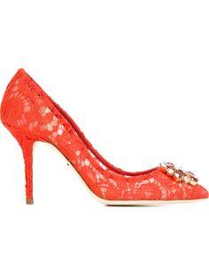 туфли с кружевной отделкой Dolce & Gabbana