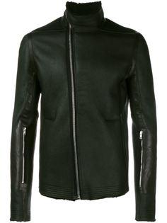 байкерская куртка с высоким воротом Rick Owens