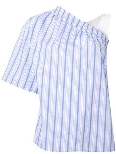 асимметричная блузка в полоску MSGM