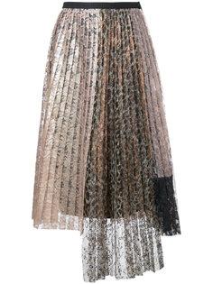 кружевная юбка плиссе  Antonio Marras