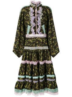 камуфляжное платье с кружевной оторочкой Natasha Zinko