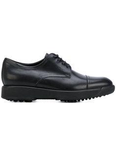туфли дерби с декоративной строчкой  Salvatore Ferragamo